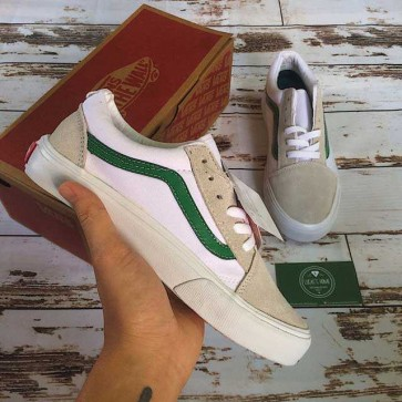 Giày vans old skool trắng viền xanh giá rẻ 002