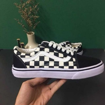 Giày Vans Old Skool phối màu caro trắng đen đẹp