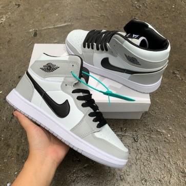 Giày Jordan 1 xám cổ cao