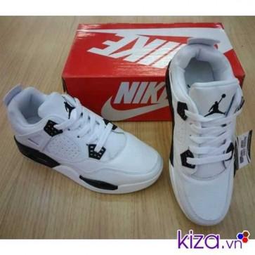 Giày Nike Jordan 4 màu đen trắng 001