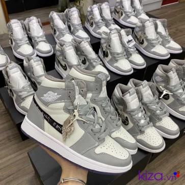Nike Jordan 1 Dior Xám Trắng Rep