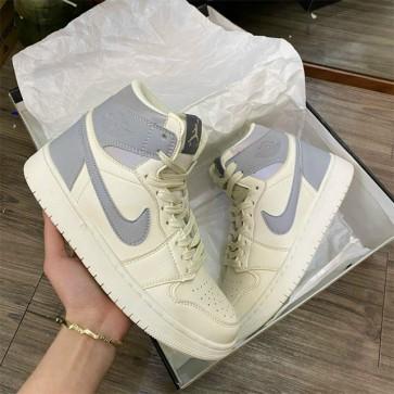 Giày Nike Jordan 1 cổ xám phản quang