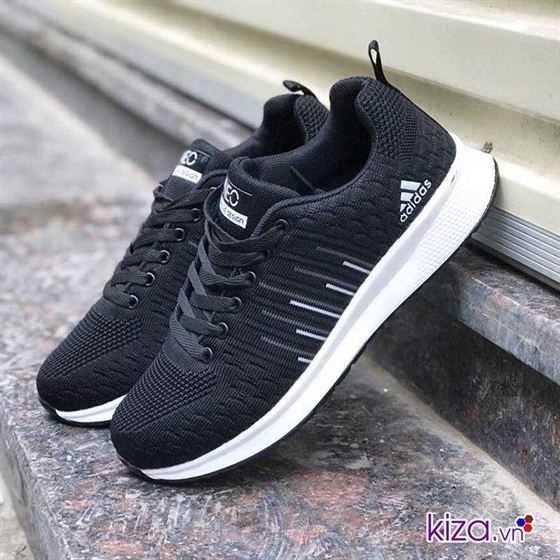 best sneakers ee975 533e4 Giày Adidas NEO màu đen kẻ sọc 002