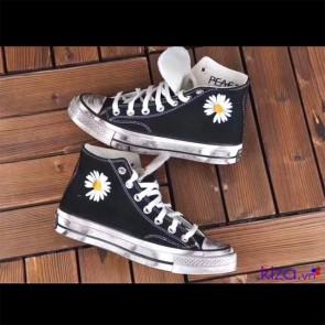 Giày converse hoa cúc đế bẩn Rep cổ cao