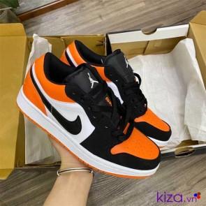 Giày Nike Jordan Đen Cam Rep