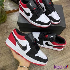 Giày Nike Jordan Đen Đỏ Rep