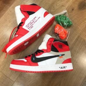 Giày nike Jordan Off White đỏ-01