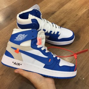 Giày nike Jordan Off White xanh 01