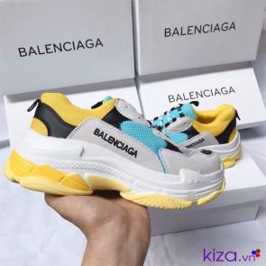 Giày Balenciaga Triple S Vàng