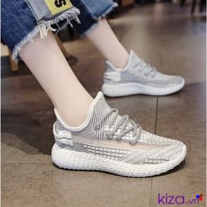Giày sneaker nữ xám trắng
