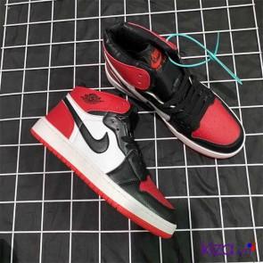 Giày Nike Jordan 1 phối màu đen đỏ 2020