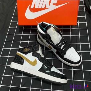 Giày Nike Jordan 1 phối màu đen trắng nâu 2020