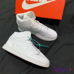 Giày Nike Jordan 1 màu trắng Full 2020