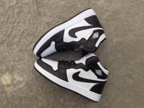 Giày nike Jordan 1 đen trắng 01