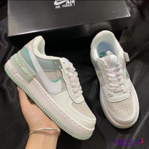 Giày Nike Air Force 1 Shadow Xanh Aura Rep