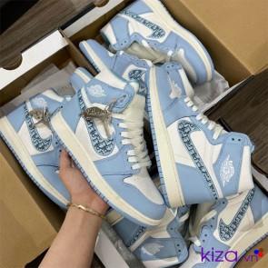 Giày Nike Jordan Dior Xanh cổ cao Replica