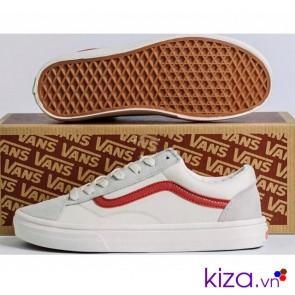 Vans style 36 trắng sọc đỏ