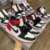 Giày Nike Jordan 1 đen đỏ replica