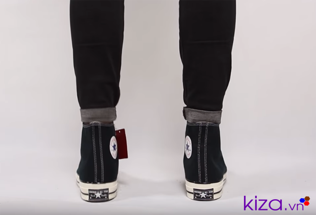 Form giày converse 1970S đen cổ cao rep