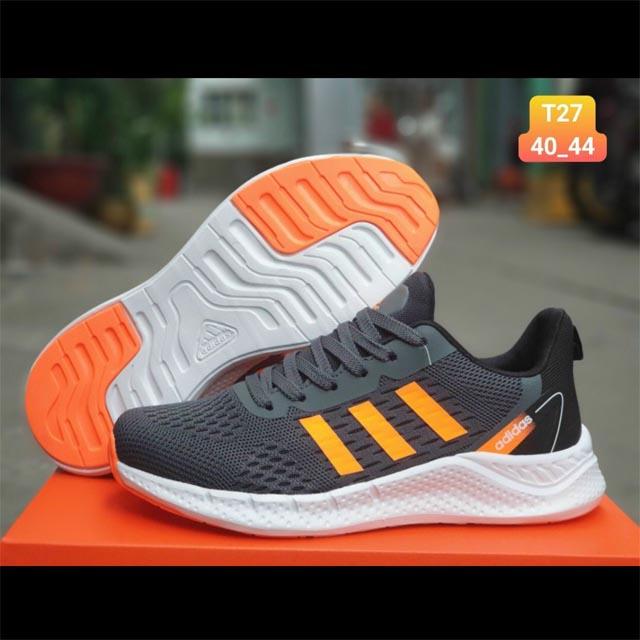 Adidas zoom đen sọc cam