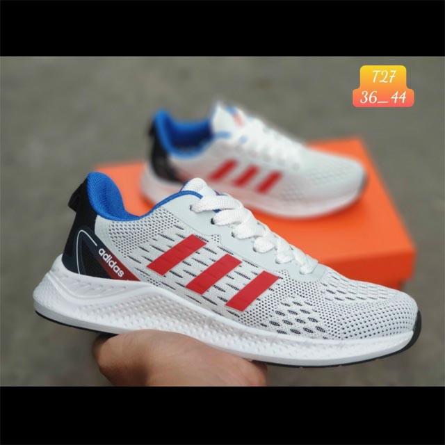 Adidas zoom xám sọc đỏ