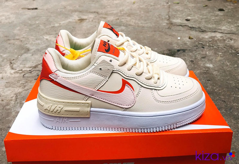 Nike Air Force 1 Shadow trắng kem