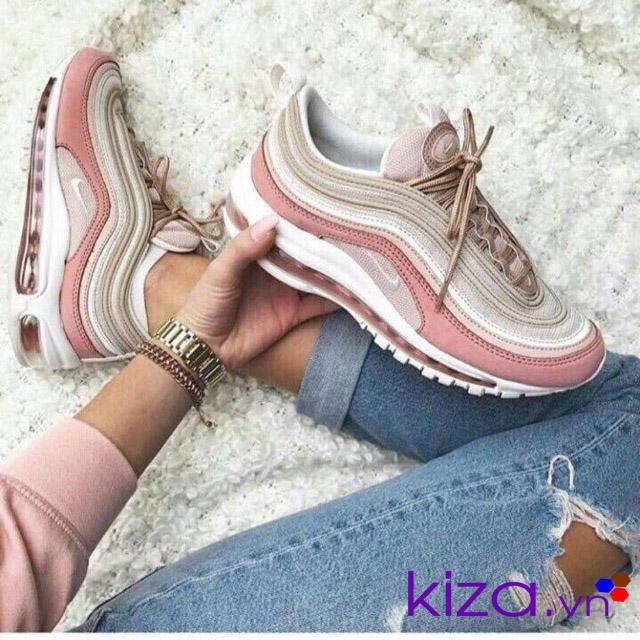 Phối đồ đẹp mắt cùng giày nike air max 97 hồng