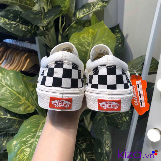 Giày vans lười caro f1