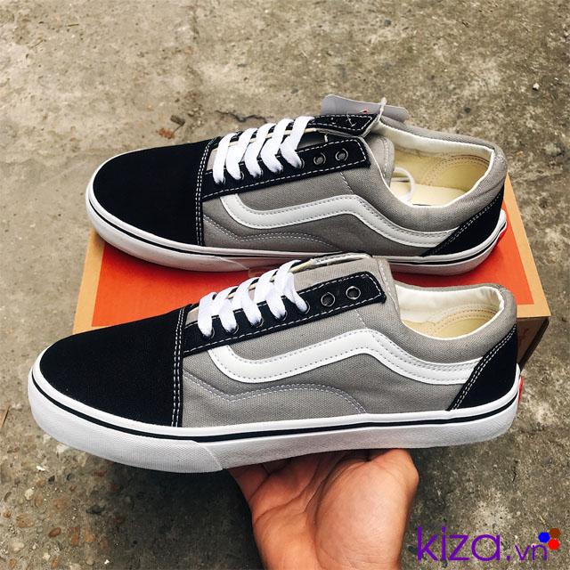 Giày Vans Old Skool phối màu xám đen
