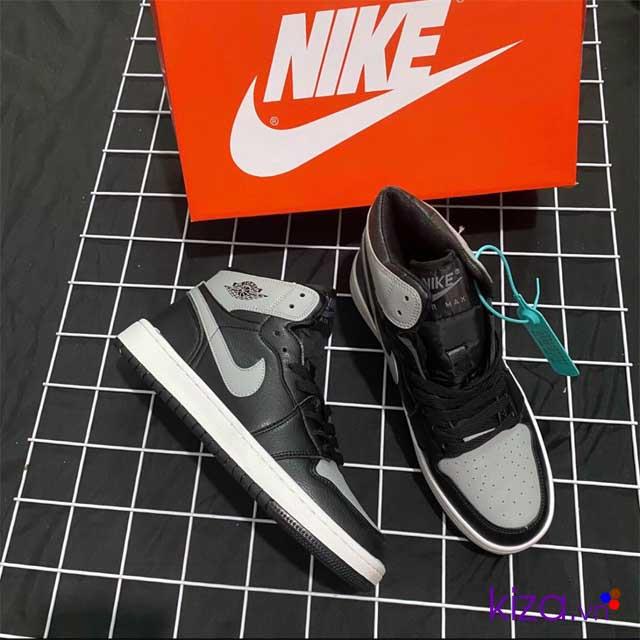 Giày Nike Jordan 1 phối màu đen xám 2020
