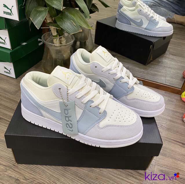 Giày nike jordan trắng xanh