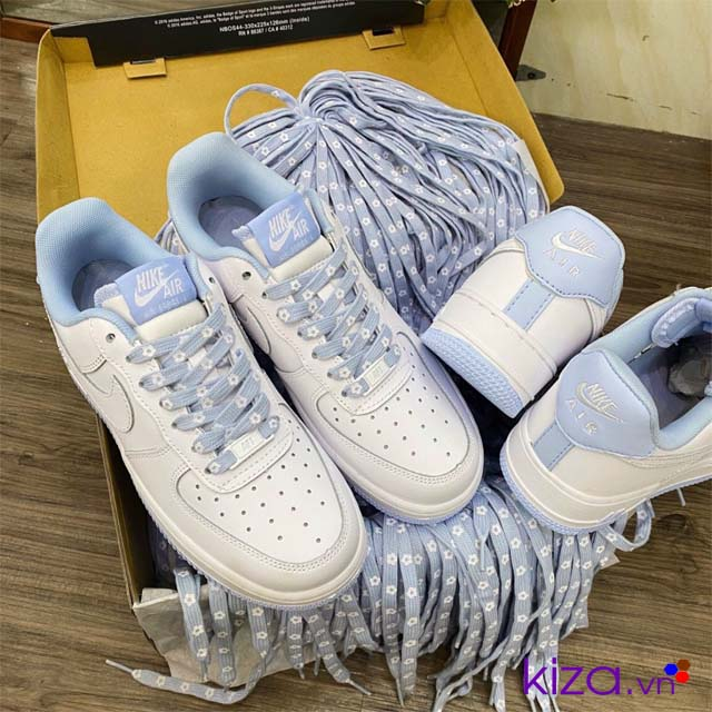 Giày nikr Airforce gót xanh