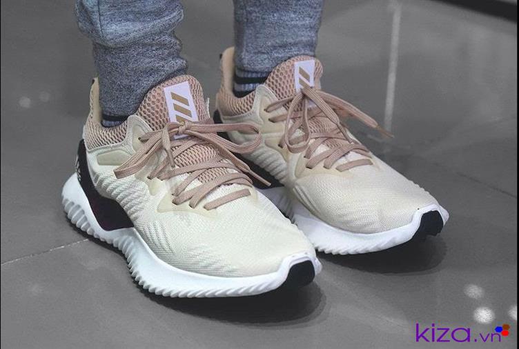 Giày Adidas Alpha Bounce kem nam nữ