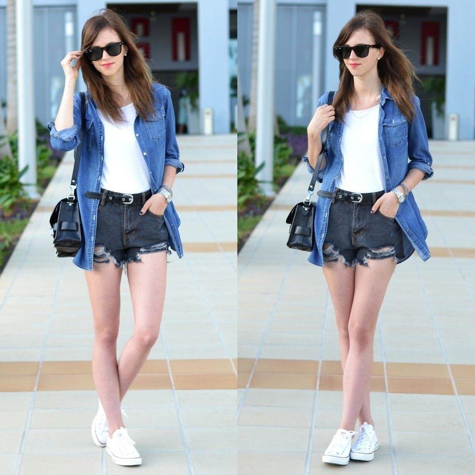 Giày converse cổ ngắn màu trắng đẹp