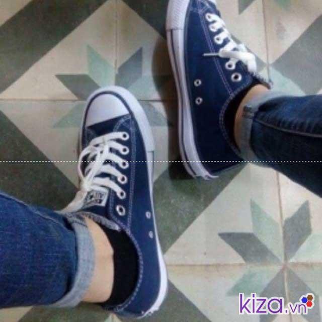 tìm hiểu về giày converse giá rẻ màu xanh navy cho bạn nam nữ