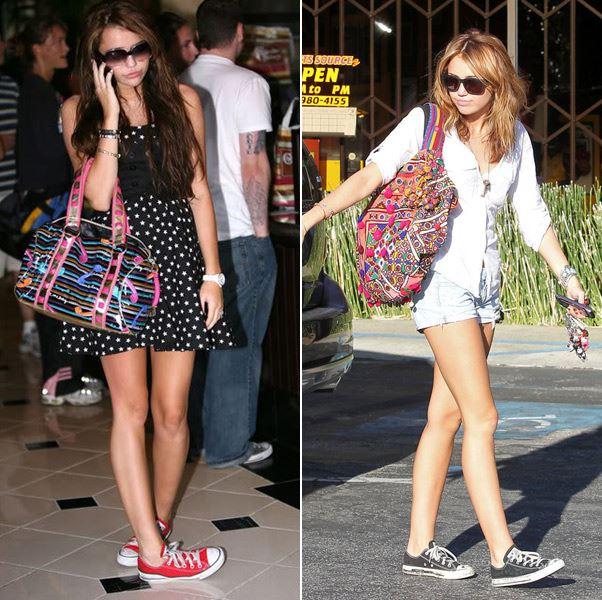 Các cô nàng đẹp hơn với giày converse màu đỏ cổ ngắn