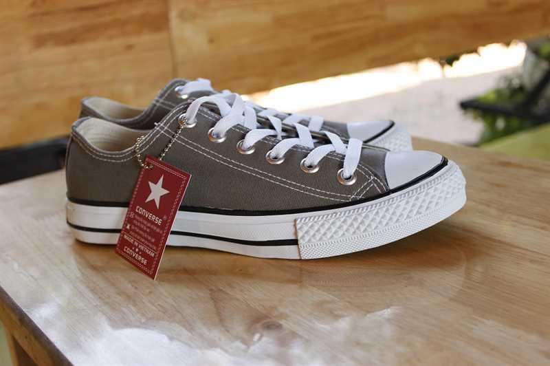 Giày converse classic thấp cổ màu ghi 4