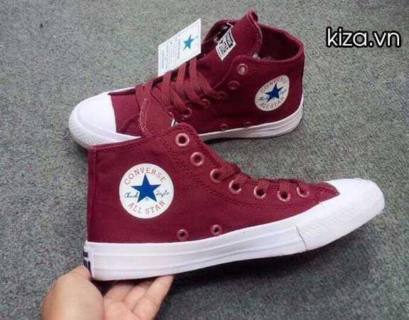 Giày converse chuck taylor 2 màu đỏ mận cổ cao 3