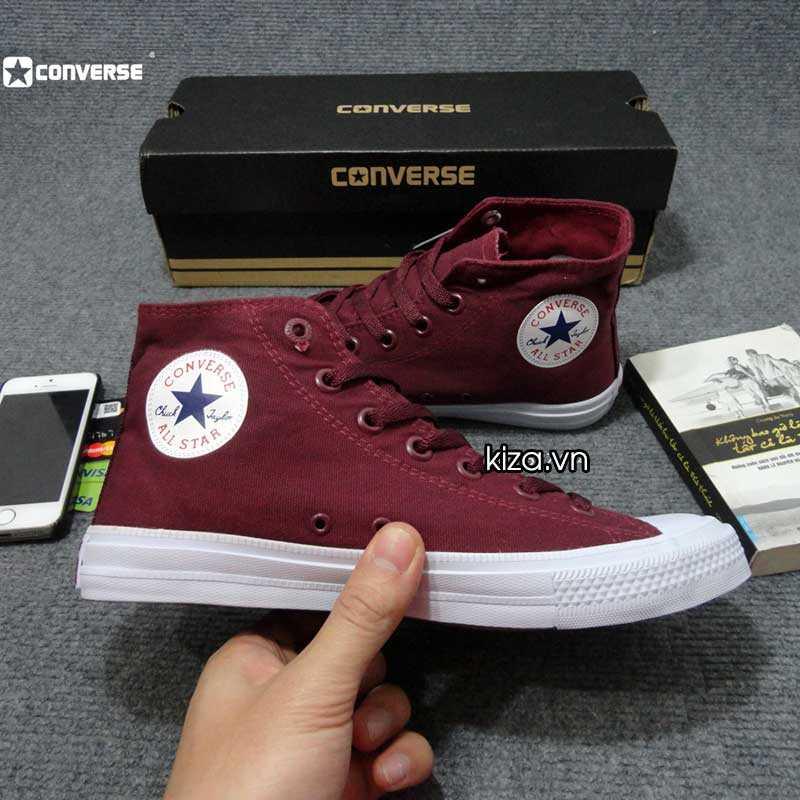 Giày converse chuck taylor 2 màu đỏ mận cổ cao 4