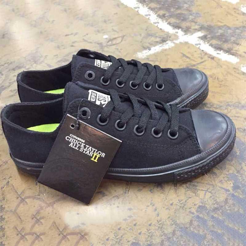 giầy converse chuck 2 đen full cổ thấp 002