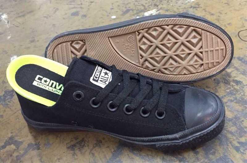 giầy converse chuck 2 đen full cổ thấp 003