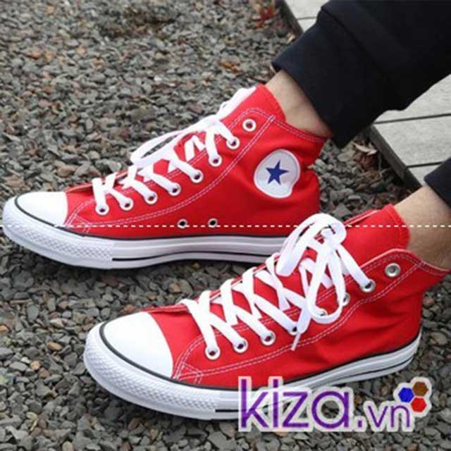 Kiza shop chuyên cung cấp giày converese màu đỏ cao cổ