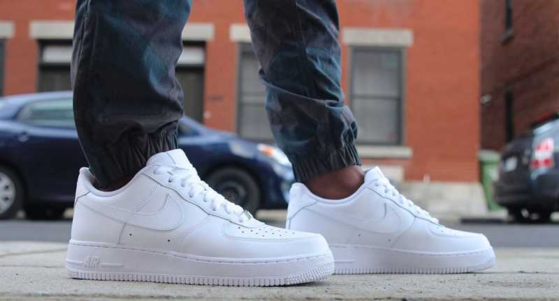 giay nike air force one all white 66