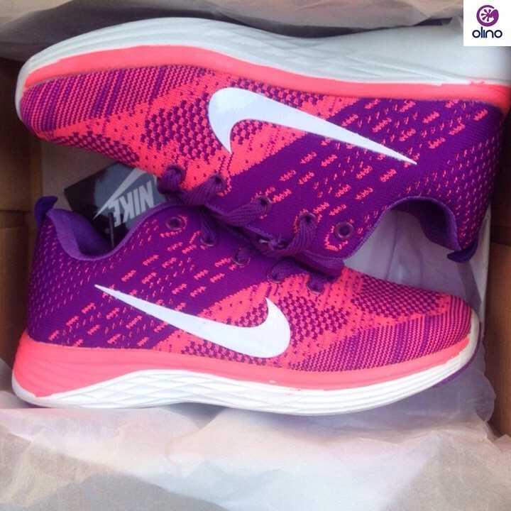 Giày Nike Flyknit Lunar 3 tím hồng 01