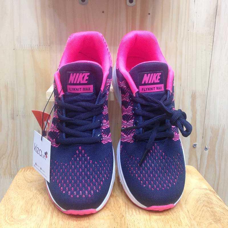 Giày Nike Flyknit phoi mau tim hong trang 001