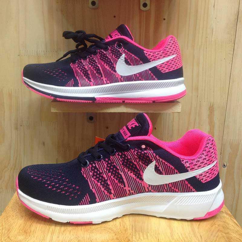 Giày Nike Flyknit phoi mau tim hong trang 004
