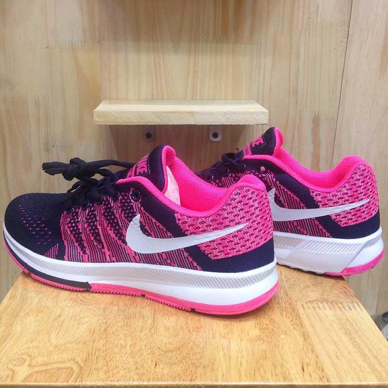 Giày Nike Flyknit phoi mau tim hong trang 005