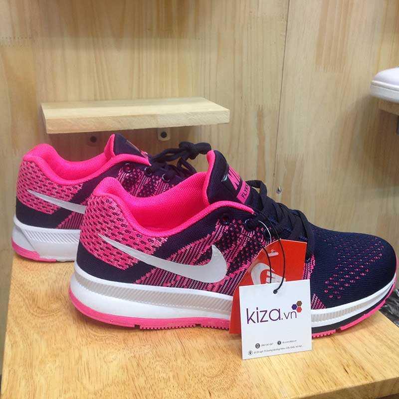 Giày Nike Flyknit phoi mau tim hong trang 00zx