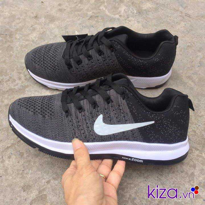 Giày Nike zoom phối màu Xám đen 001