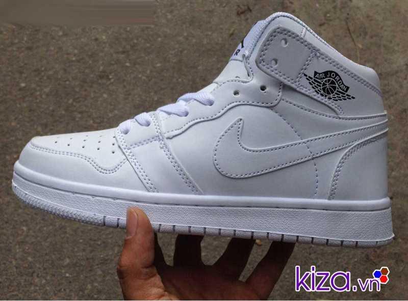 giày nike jordan 1 màu trắng 2018 22